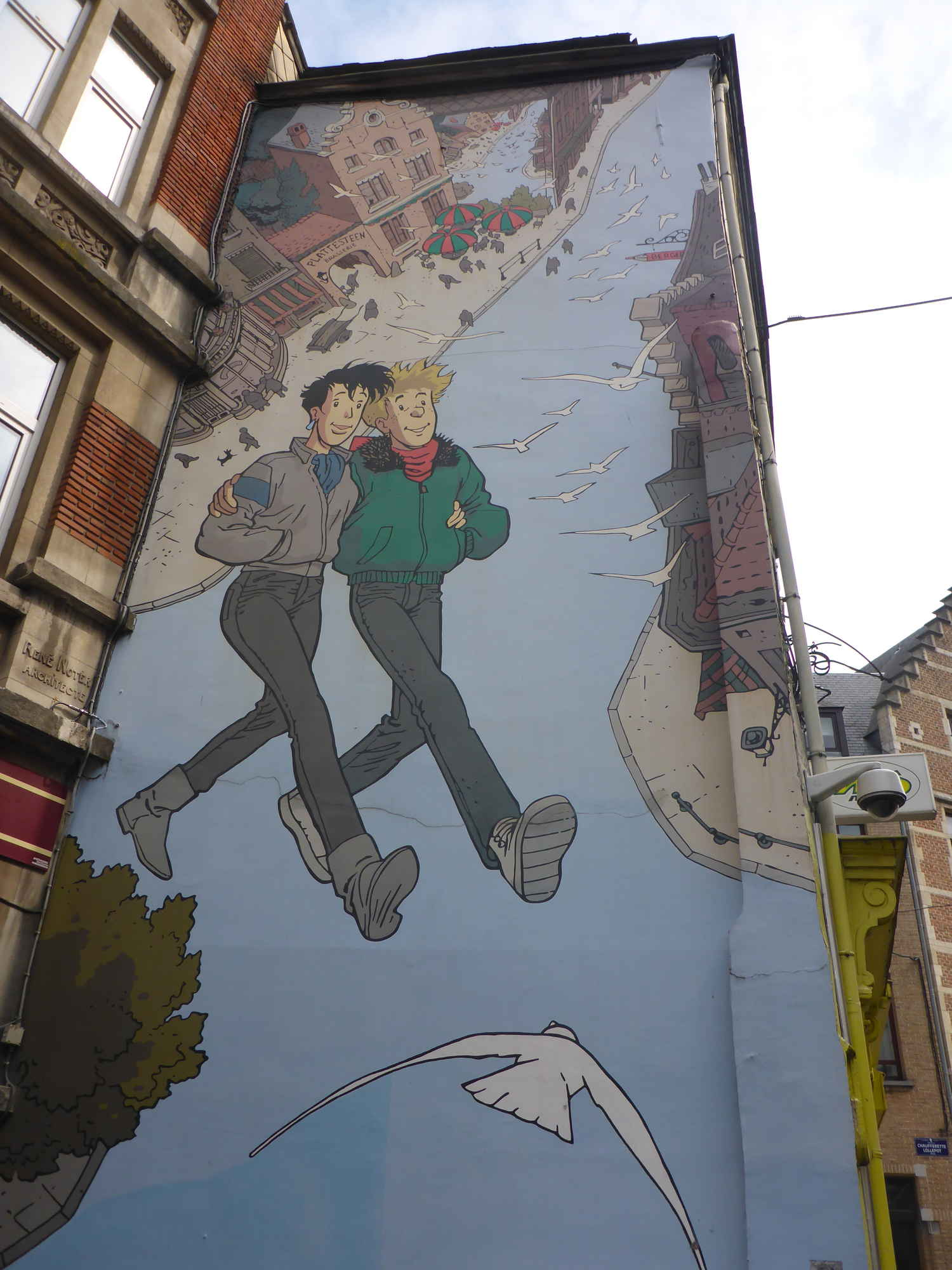 Comic Book Walk, Brussels, Belgium