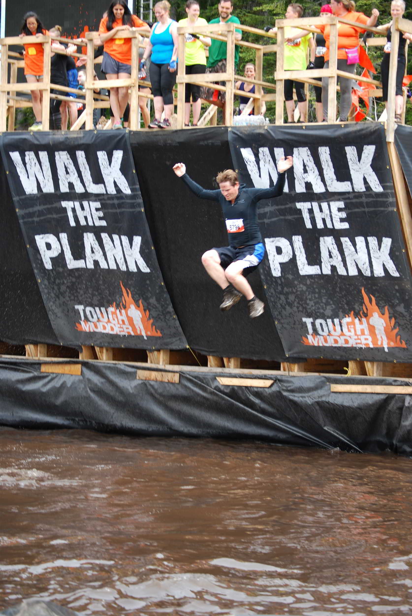 Walking the Plank, Tough Mudder, Whistler, British Columbia, Canada