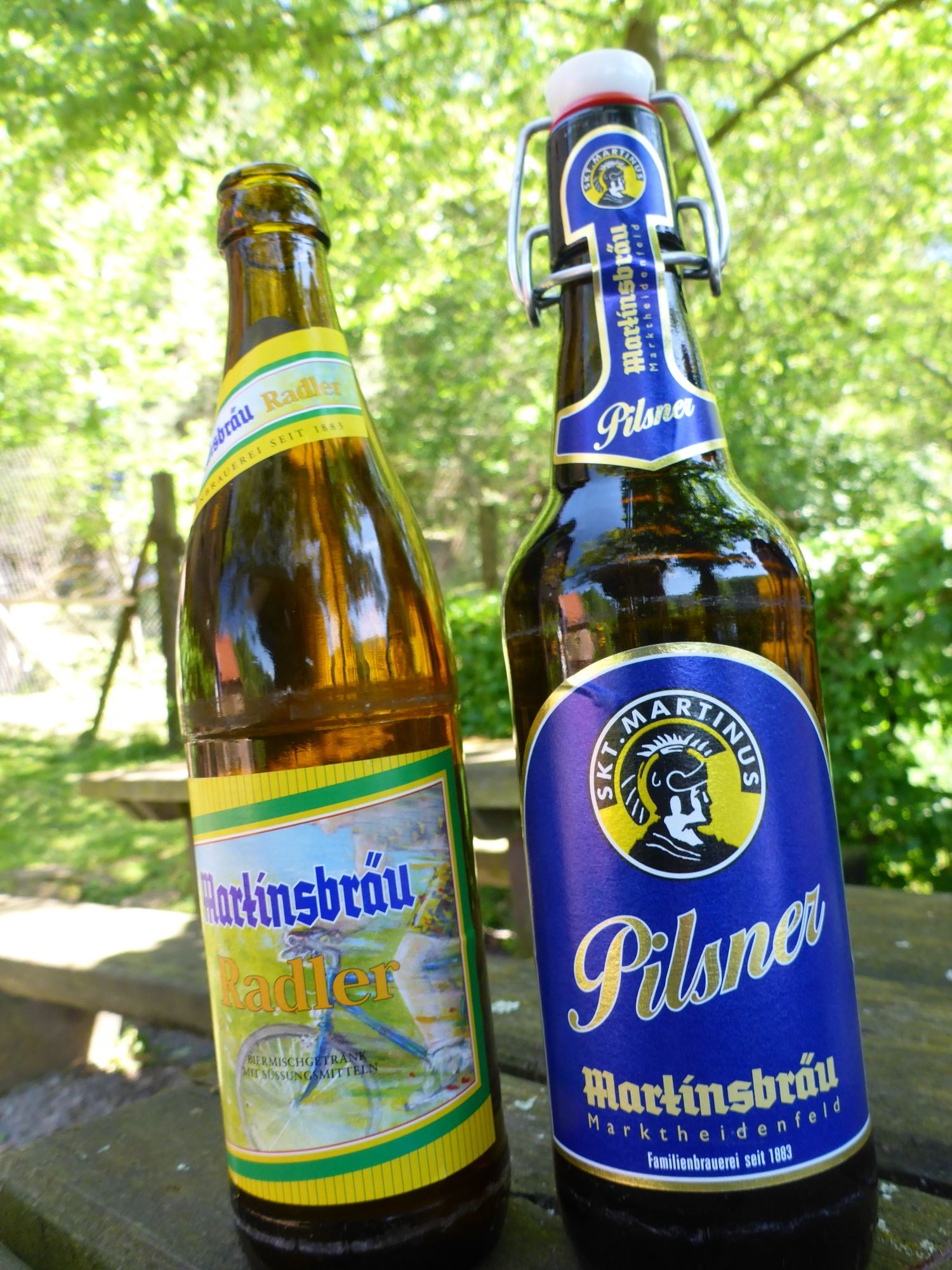 Martins Brau Raddler and Pilsner
