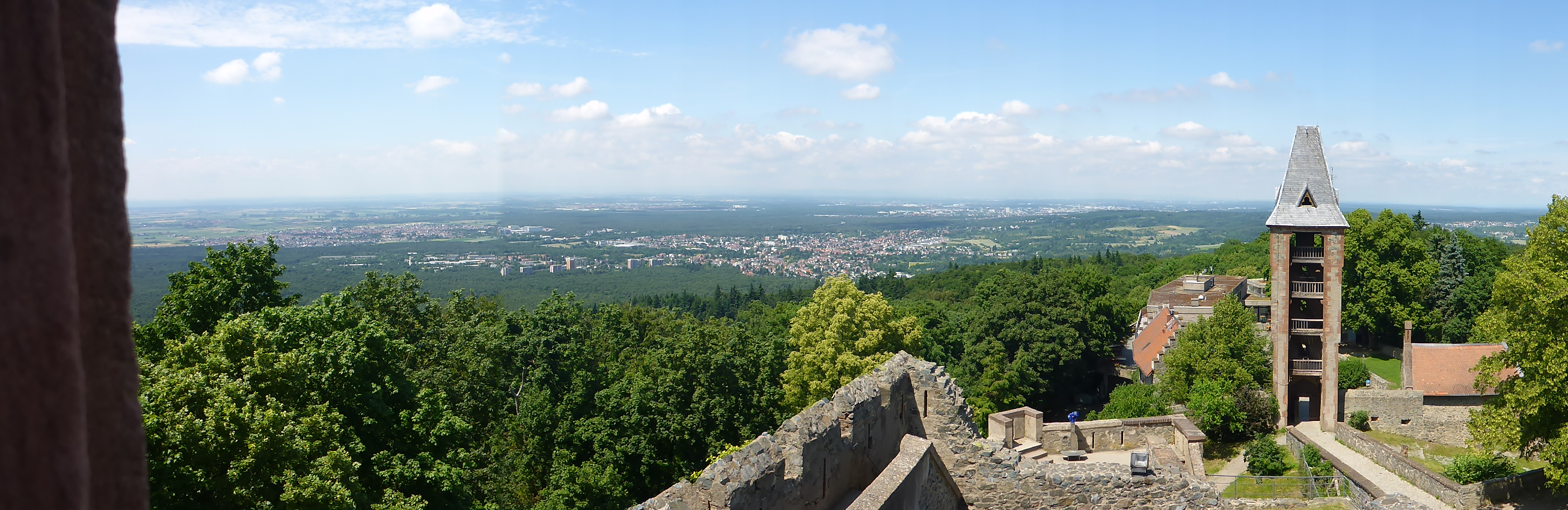 The view from Burg (Castle) Frankenstein