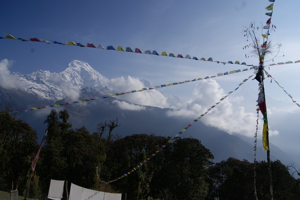 Tadapani to Jhinu, Nepal - The view from our room